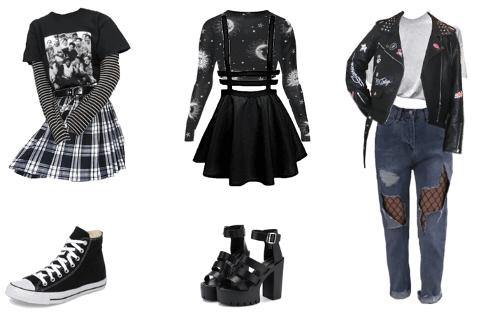 Grunge inspired outfits