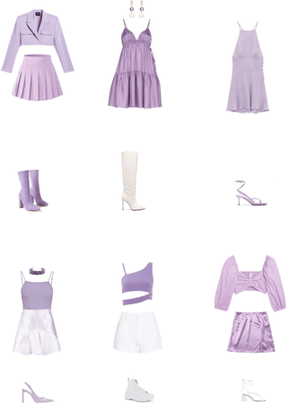 K-pop gg: lilac performance outfits