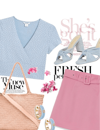 Pinks, Blues and Tans for @isabellagearheart