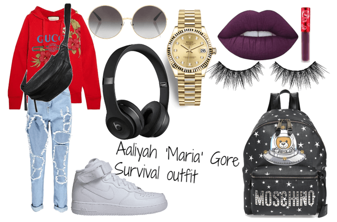 Aaliyah 'Maria' Gore survival outfit