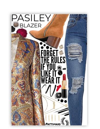 Paisley Blazer 👌🏾