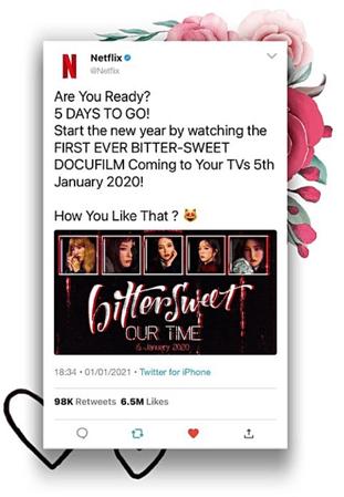 BITTER-SWEET [비터스윗] Netflix Twitter 210101