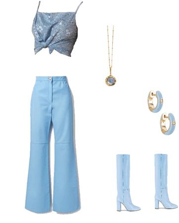 blue monochrome jackie burkhart inspired fit!!