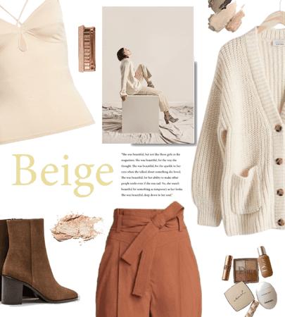 natural tones: beige