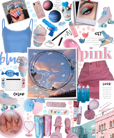 pink and blue -for challenge-