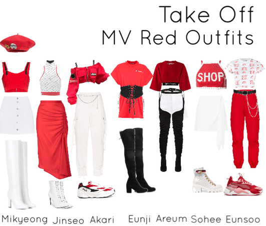 Take Off Red Outfits