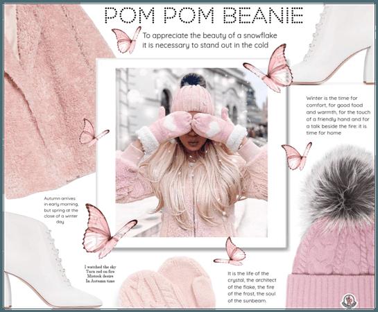 ♡ Pom pom beanie look #2 ♡
