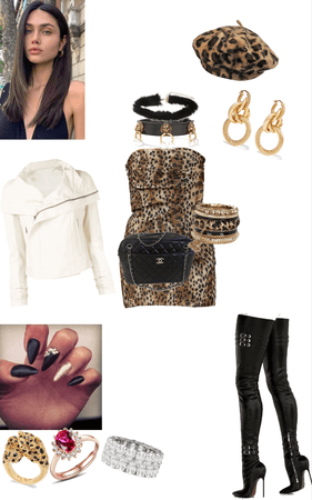 Glam Leopard in Leather