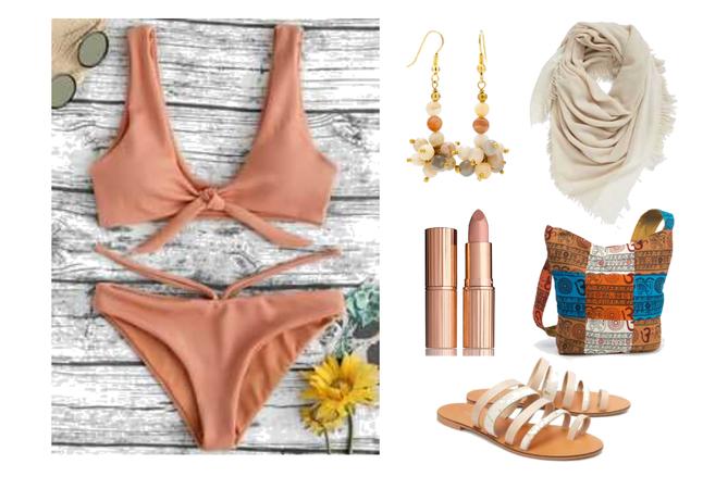 Orange Nude Summer Bikini