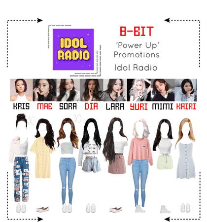 ⟪8-BIT⟫ Idol Radio Outfits - 'Power Up' Promotions