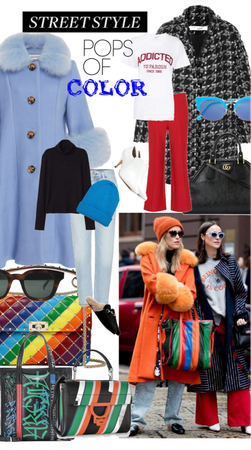 Street style - Pops of Color