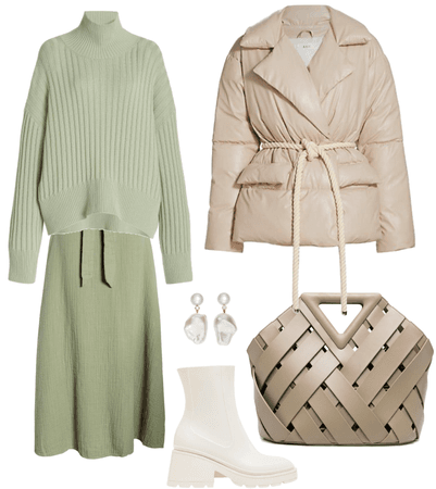olive and beige