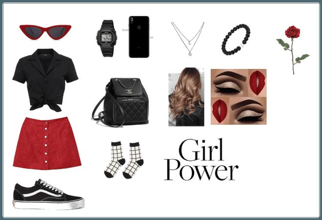 Girl Power red