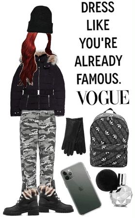 wear black vogue famous