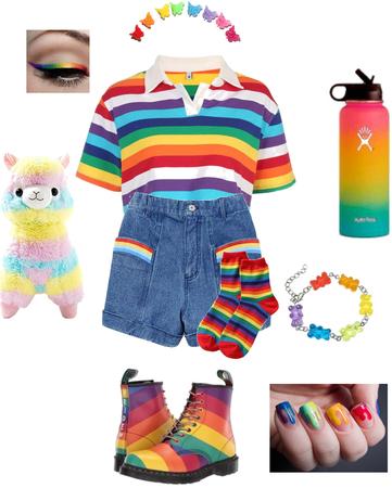 rainbow indie grunge kawaii baddie vintage outfit kit
