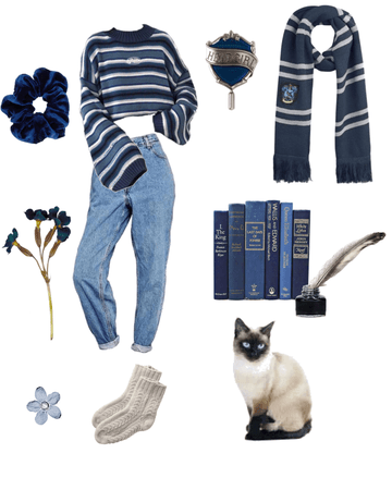 soft ravenclaw outfit