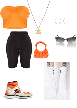 orange outfit 🍊
