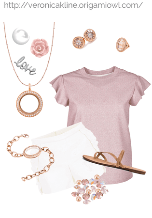 Millennial Pink Shorts Outfit