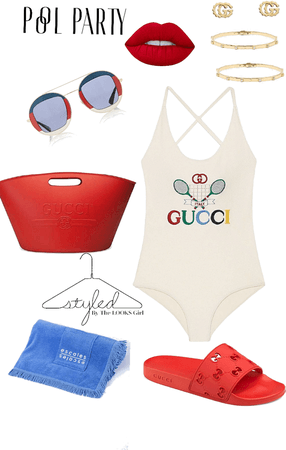 Tennis + Gucci = Pool Party