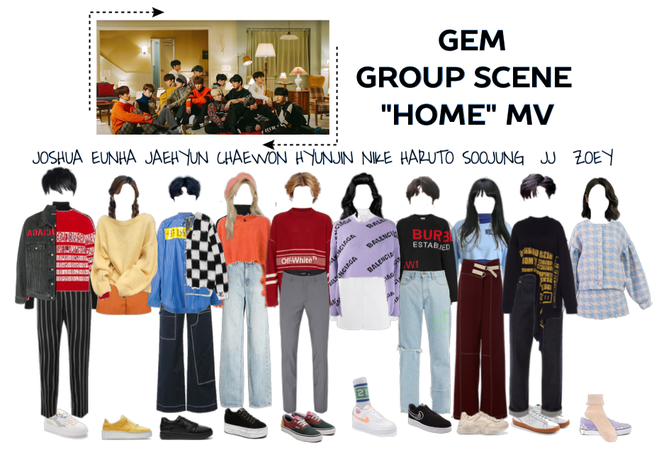 "Gem - ""Home"" MV II Group scene"