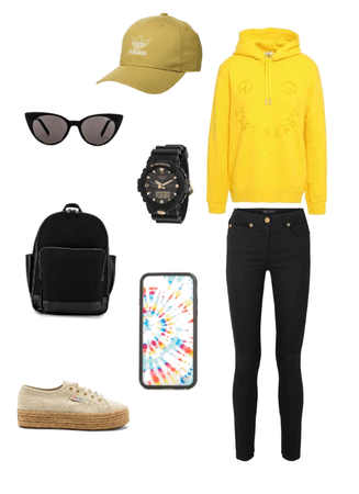 Yellow Collage Outfit