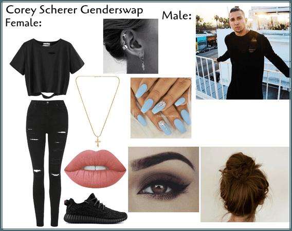 Corey Scherer Genderswap