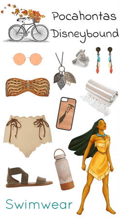 Pocahontas Swimwear Disneybound