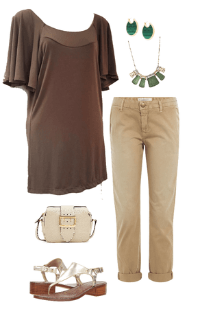 BROWN BEIGE OUTFIT
