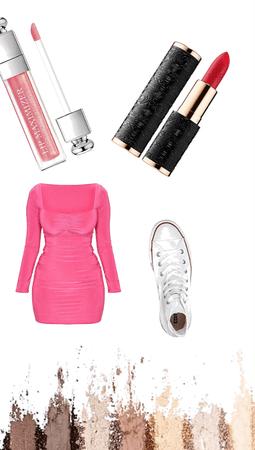 Lip sticks with a dress