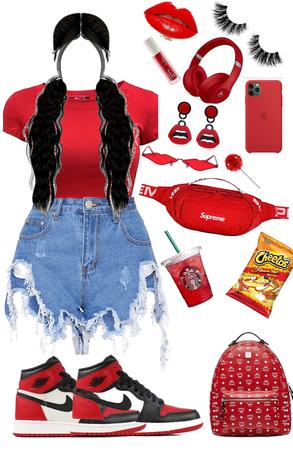 red baddie🥰❤️🔥🔥