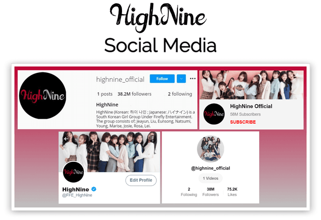 HighNine (하이 나인) Social Media