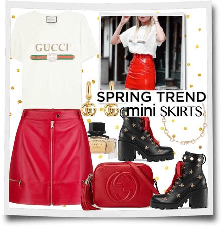 spring trend mini skirts.