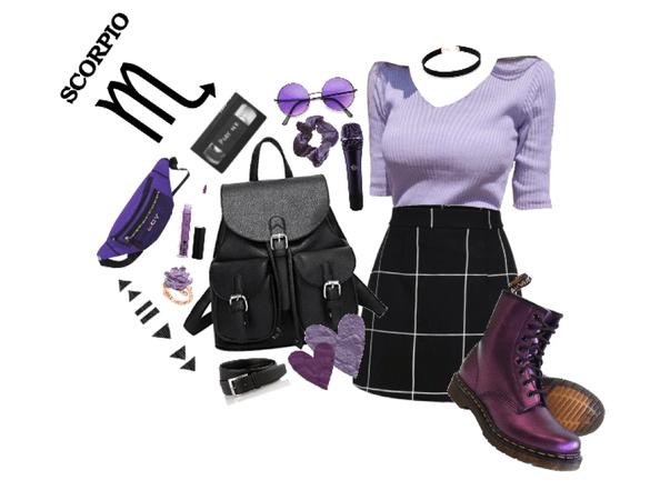 scorpio: purple&black