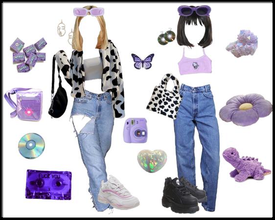 Purple Cowprint Indie
