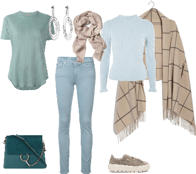 soft summer colortype outfit