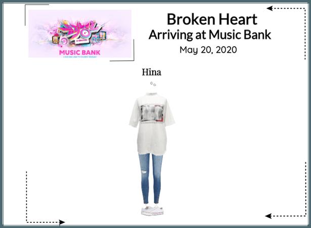 Broken Heart's Hina Arriving at Music Bank