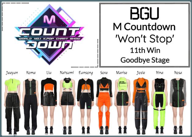 BGU M Countdown 'Won't Stop' Goodbye Stage