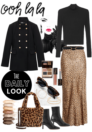 Classy Black Mix with Leopard Cat