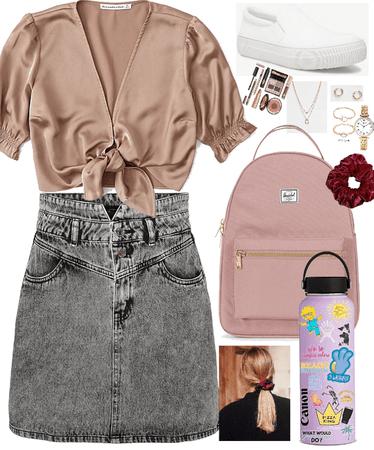 vsco girl school outfit