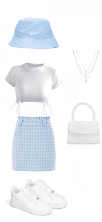 summer baby blue outfit