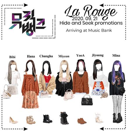 La Rouge arriving at Music Bank (2020. 09. 21)