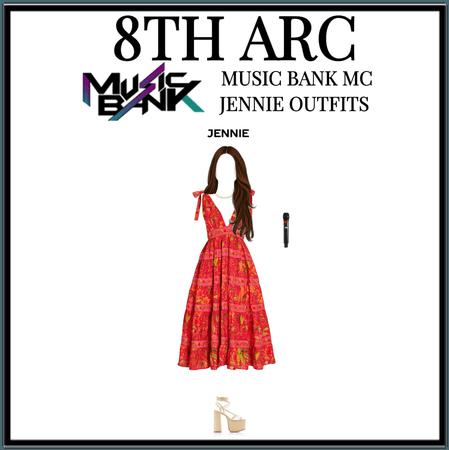 8TH ARC JENNIE OUTFITS ON MUSİC BANK AS AN MC