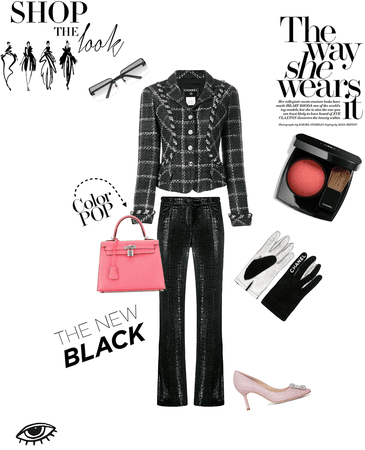 Black elegance with a pop of pink