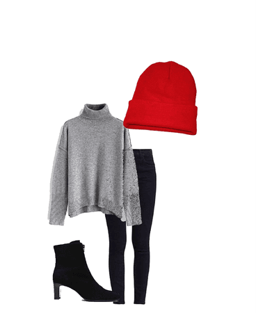 Red winter outfit