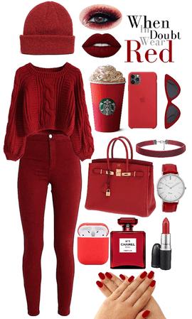 winter monochrome-red