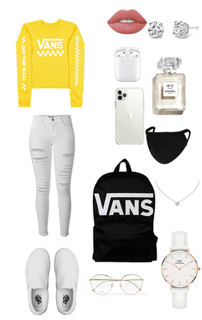 school ( also I thing Its bad to were the with white jeans is u know what I mean ) 😅