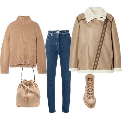 light beige outfit