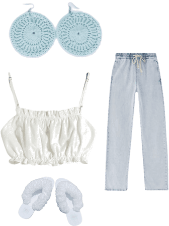 White Flurties with jeans and a cute white top with Flurty earrings