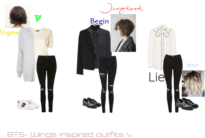 BTS-Inspired outfits from separate song in the Wings Album