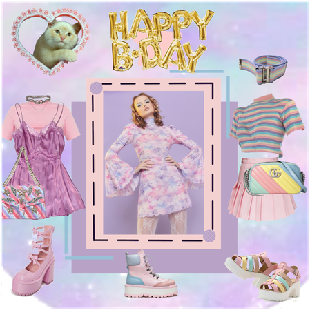 Pastel birthday outfits